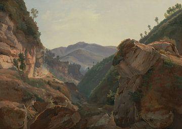 Jean-Charles-Joseph Rémond-Berg Landschaft mit Straße nach Neapel