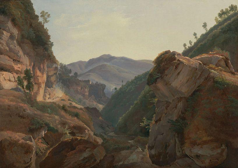 Jean-Charles-Joseph Rémond-Berg Landschaft mit Straße nach Neapel von finemasterpiece