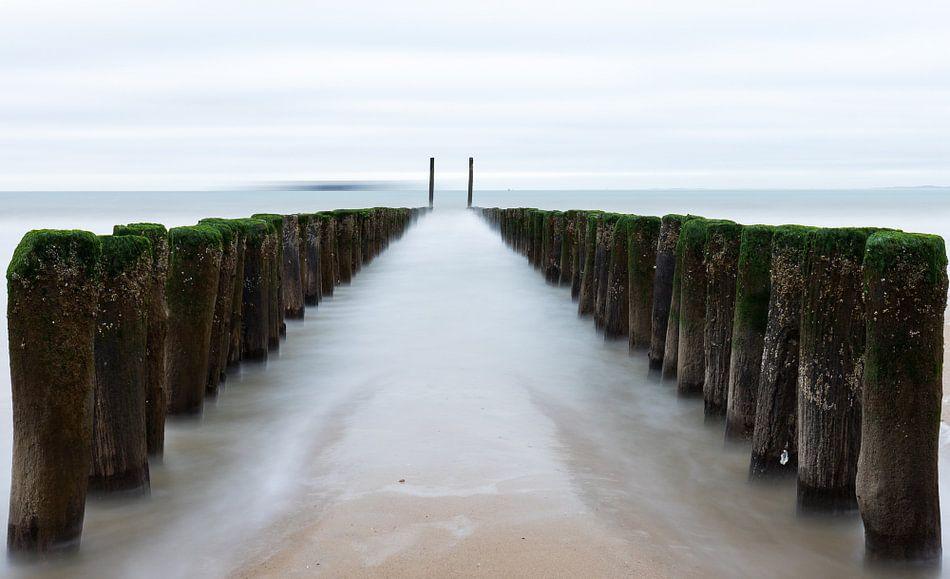 Paaltjes naar de zee van Wim van D