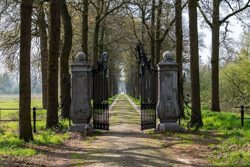 Toegangshek in oprijlaan Kasteel van Heeswijk van Ingrid Aanen