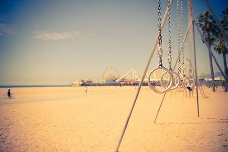 Sportschool op het strand van Sander van Leeuwen
