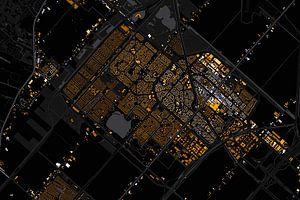 Kaart van hoofddorp abstract