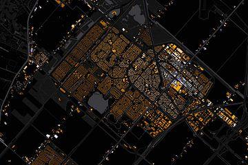 Kaart van hoofddorp abstract sur Stef Verdonk