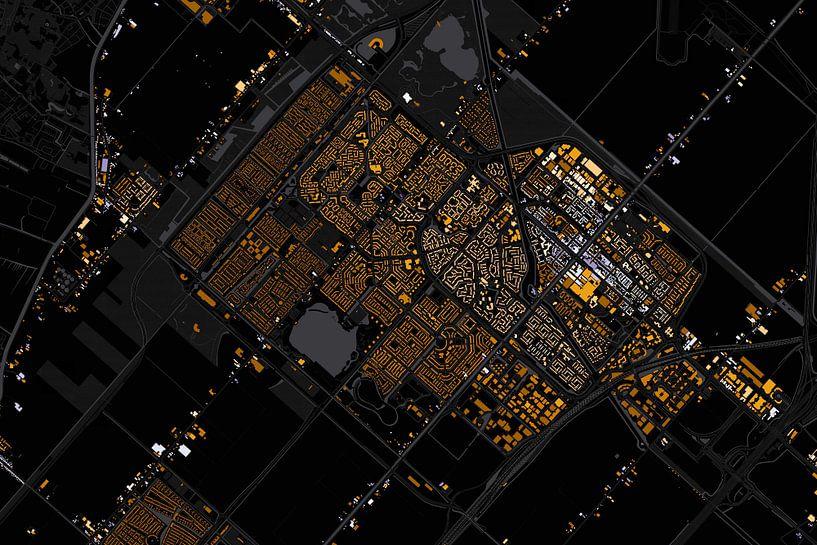 Kaart van hoofddorp abstract van Stef Verdonk