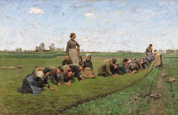 Das Unkrautjäten von Flachs in Flandern, Emile Claus