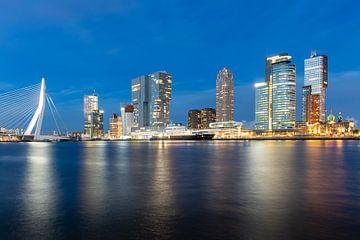 Cruiseschip bij de Erasmusbrug in Rotterdam van Pieter van Dieren (pidi.photo)