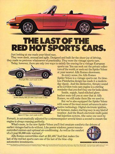1985 Alfa Romeo Spider Veloce Werbung von Natasja Tollenaar