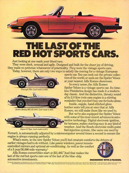 1985 Alfa Romeo Spider Veloce reclame van Atelier Liesjes