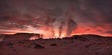 Zonsopgang in Bolivia van Olga Ilina