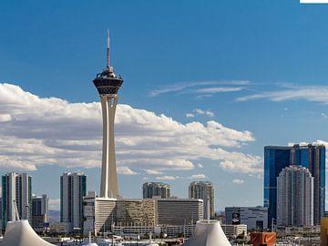 Las Vegas skyline met Stratosphere Tower van Easycopters