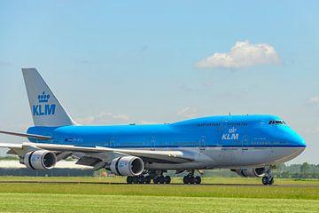 Flugzeug vom Typ KLM Boeing 747 auf dem Flughafen Schiphol von Sjoerd van der Wal