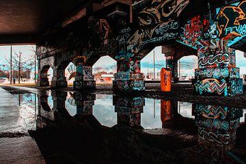 Street wall skate graffiti van Brent Lenaerts