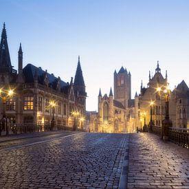 Gent - Sint-Michielsbrug bij zonsopkomst van Fotografie Krist / Top Foto Vlaanderen