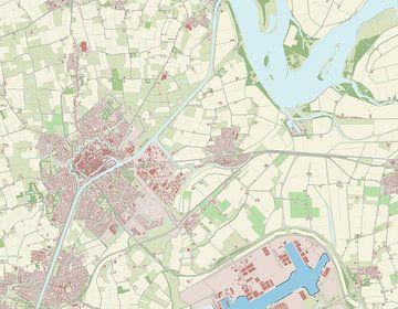 Kaart vanMiddelburg