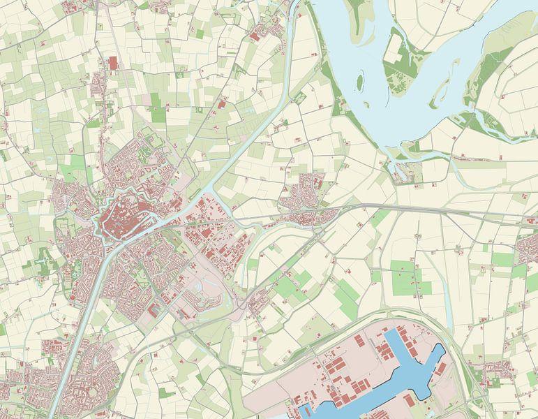 Kaart vanMiddelburg van Rebel Ontwerp