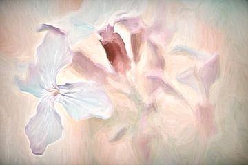 wilde bloemen in pastel van Francis Dost