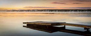 Vroege zonsopgang in Zweden