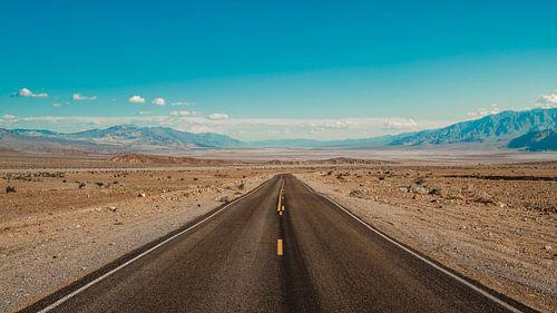 De weg naar Death Valley van