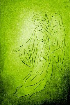 Raphael - Angel of Healing van Marita Zacharias