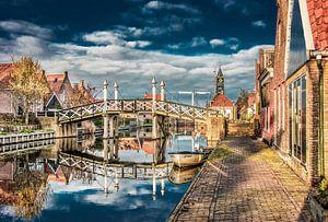 Historische brug in Hindeloopen