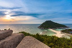 Zonsondergang op Koh Nang Yuan