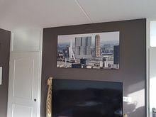 Klantfoto: Gerrit van Veen - Skyline / Erasmusbrug van MS Fotografie | Marc van der Stelt, op canvas