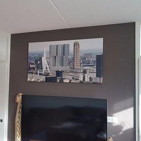 Kundenfoto: Gerrit van Veen - Skyline / Erasmusbrug von MS Fotografie