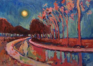 Mondnacht auf dem Kanal von Nop Briex