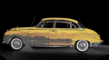 BMW 502 Art Car met Bodenmeer panorama van aRi F. Huber