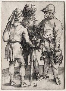 Drei Bauern im Gespräch, Albrecht Dürer