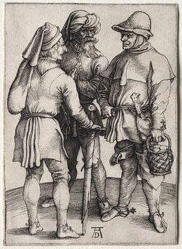 Trois agriculteurs en conversation, Albrecht Dürer sur De Canon