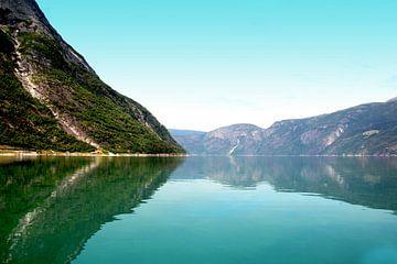 Ein Fjord in Norwegen von Bianca Wisseloo