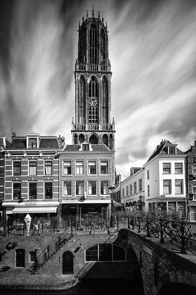 Domtoren en de Maartensbrug (Long exposure), Utrecht van John Verbruggen