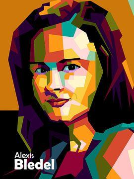 Alexis Bledel dans popart sur miru arts