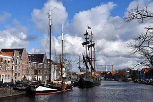 Schepen in Spaarne Haarlem