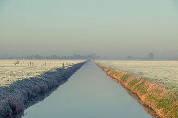 Sloot in de ochtendzon van Wouter Bos