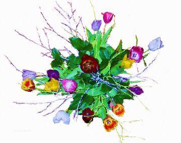 Bosje Tulpen sur Frans Jonker