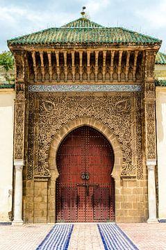 Eingang Tür zum Mausoleum des Mulai Ismail in Meknes Marokko von Dieter Walther