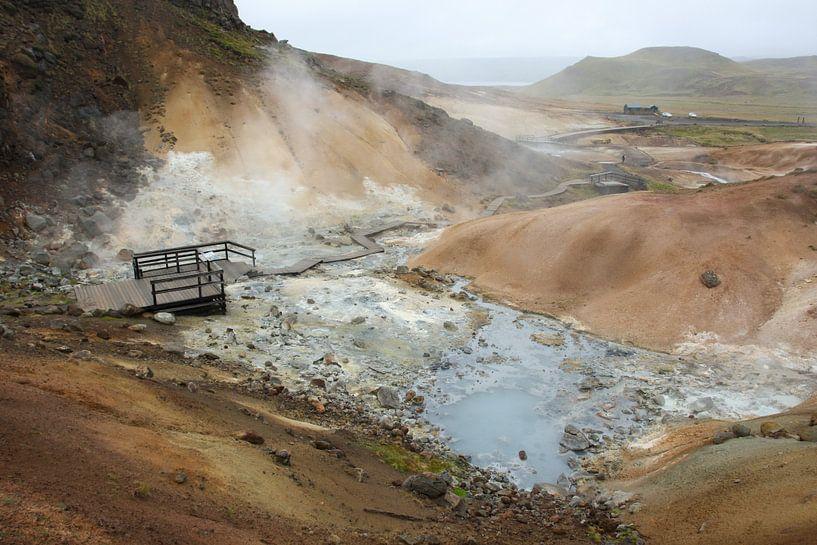 Geothermisch gebied Krysuvik van Louise Poortvliet