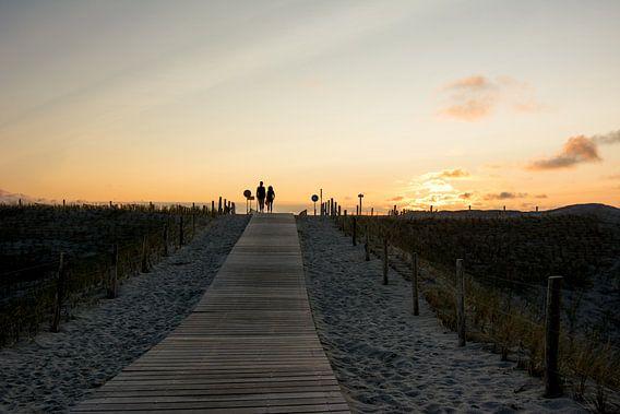 Zonsondergang aan het strand
