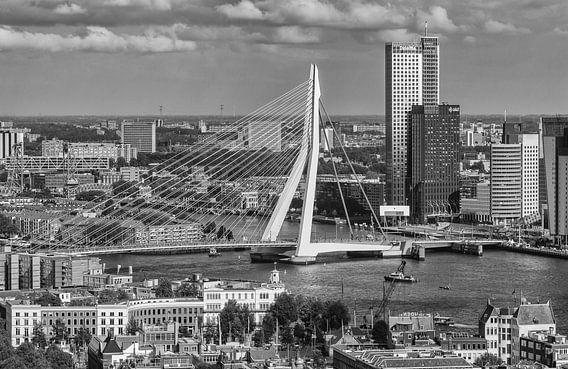 Rotterdam vanaf de Euromast van Ilya Korzelius
