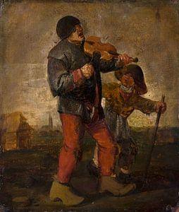 Blinde Musikerin, Adriaen Brouwer