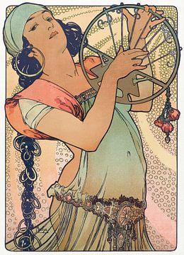 Tanz der Salome - Alphonse Mucha, 1897 von Atelier Liesjes
