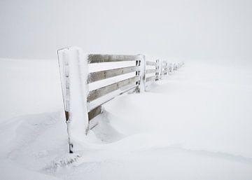 """""""Ondergesneeuwd hek"""" in de Vogezen van Kaj Hendriks"""