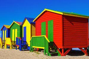 Maisons de plage de Muizenberg