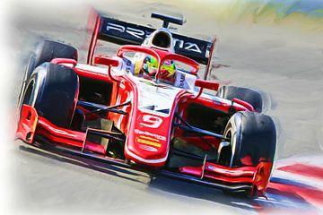 Formel 2 Saison 2019 - Mick Schumacher von Jean-Louis Glineur alias DeVerviers