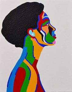 Madame, en profil portret van een dame  van