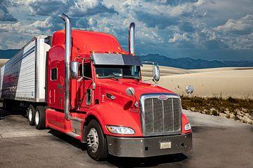 Vrachtwagen, Amerikaanse Truck,Peterbilt van Gert Hilbink