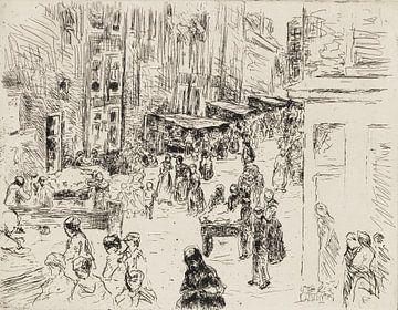 MAX LIEBERMANN, Jodensteeg  in Amsterdam, 1908 van Atelier Liesjes