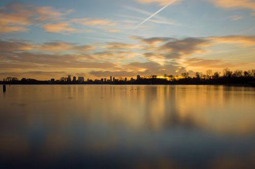 Zonsondergang Skyline Rotterdam van